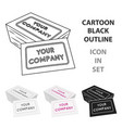business cards icon in cartoon style isolated on vector image
