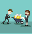 businessman or manager finding himself going to be vector image vector image
