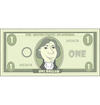 cartoon American dollar vector image