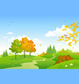 cartoon autumn woodland vector image