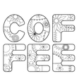 Coffee word coloring vector image vector image