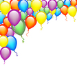 Colorful Balloon Background vector image vector image