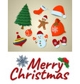 concept merry christmas card isolated icon vector image vector image