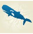 decorative whale vector image