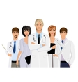 Doctor with medical staff vector image vector image