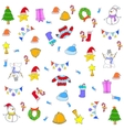 Doodle christmas backgrounds art vector image