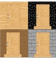 Door in wall vector image