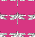 Dragonfly Patterned Background vector image