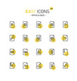 easy icons 20d files vector image vector image