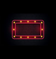 empty classic neon sign frame vector image