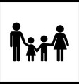 family holding hands icon flat design isolated vector image vector image