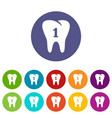 first tooth icon simple style vector image vector image