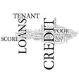 for tenants with bad credit poor credit tenant vector image vector image