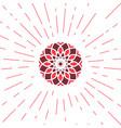 geometric sun emblem vector image vector image