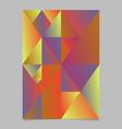 geometrical minimal triangle mosaic flyer vector image vector image