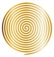 gold round abstract vortex hypnotic spiral vector image