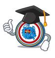 graduation dragonchain coin character cartoon vector image vector image