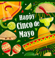 happy cinco de mayo holiday party fiesta fireworks vector image vector image
