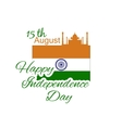 Happy Independence day India Flyer design for vector image