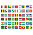 Icons with African flags