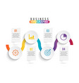 infographic element with four options vector image vector image