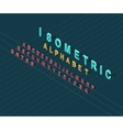 Isometric Design Style Alphabet vector image vector image
