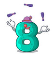 juggling number eight volume logo the mascot vector image vector image
