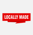 locally made vector image vector image