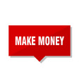make money red tag vector image vector image