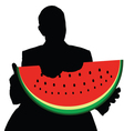 man with watermelon vector image