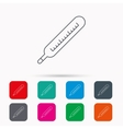 Medical thermometer icon Temperature sign vector image vector image