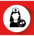 medicine capsule pill hosptial building icon vector image vector image