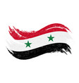 national flag of syria designed using brush vector image
