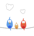 New bird family vector image vector image