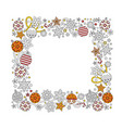 new year hand drawn square frame in entangle vector image vector image