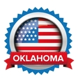 Oklahoma and USA flag badge vector image vector image