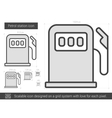 Petrol station line icon vector image vector image