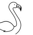 pink flamingo cartoon vector image