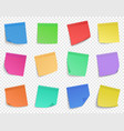 post it pin note paper memo notes sticky vector image