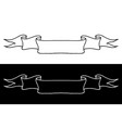 ribbon banners black and white doodles vector image
