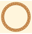 Rope decorative round frame vector image vector image