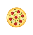 Round pizza icon isolated on white vector image