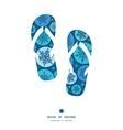 round snowflakes flip flops silhouettes pattern vector image vector image