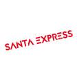 Santa express rubber stamp