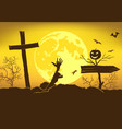 scary background for eve all saints day vector image vector image