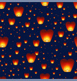 seamless pattern with chinese lanterns flying in vector image vector image