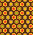 Seamless retro honeycomb pattern vector image vector image