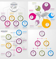 set of business timeline infographics and design vector image vector image