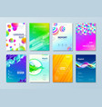 set of different style design template for cover vector image