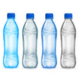 set of plastic bottles with mineral water vector image